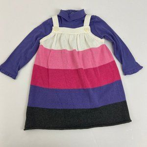 Gymboree Pink Purple Sweater Jumper Dress …